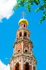 Dome of the Orthodox Church. Moscow, Russia