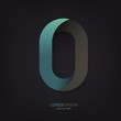 Infinite oval symbol template on dark lines texture, vector, EPS