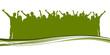 Grüne Silhouette - Viele Menschen