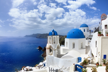 Vista de Santorini (Grecia)