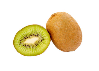 Kiwi on the white isolated background