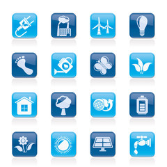 Green, Ecology and environment icons - vector icon set