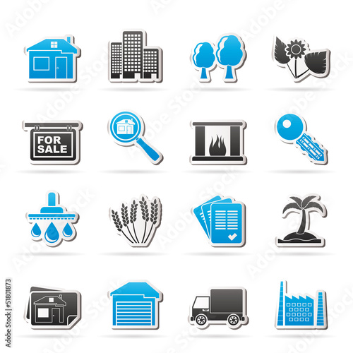 Real Estate and building icons - Vector Icon Set