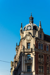 Tenement built in neo-baroque architectural style in Katowice