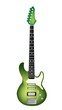A Beautiful Green Electric Guitar on White Background