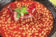 Beans in tomato sauce and sausage