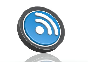 RSS feed round icon in blue
