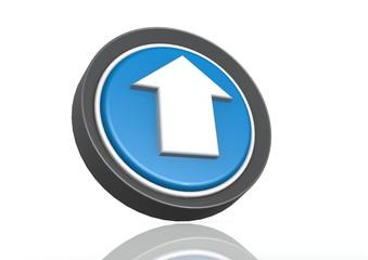 Upload round icon in blue