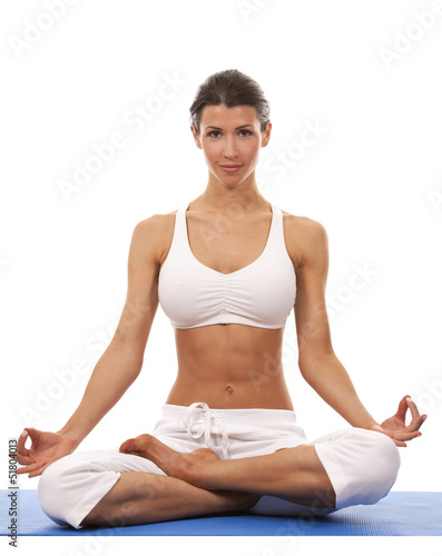woman and yoga