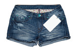 Jean short pants with price tag