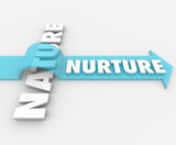 Nurture Vs Nature Arrow Over Word Psychology