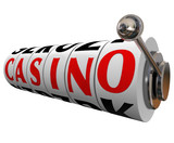 Casino Word Slot Machine Wheels Gambling Betting