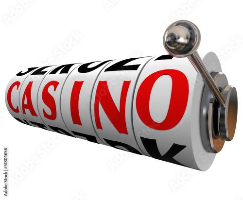 Casino Word Slot Machine Wheels Gambling Betting