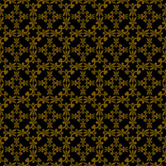 Dark Brown Colors Art Nouveau Style Plant Pattern design. Origin
