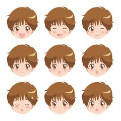 男の子/表情