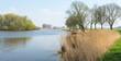 Idyllic Dutch landscape in springtime