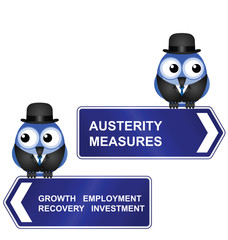 Austerity Measures sign