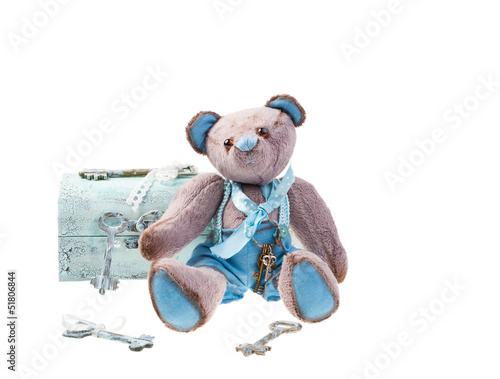 Teddy bear with keys