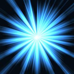esplosione di luce azzurra