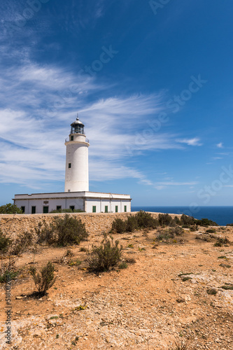Formentera La Mota lighthouse mediterranean Sea