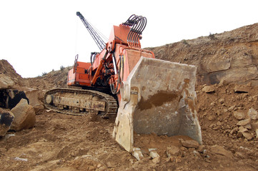 Large digger at a quarry