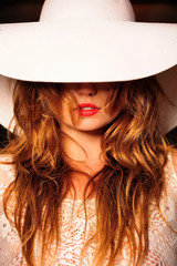 attractive, beauty, emotion, face, girl, hat, natural,