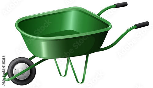 A green construction cart