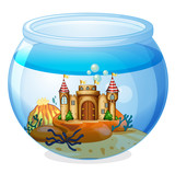 A castle inside the aquarium