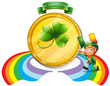 A big golden coin for St. Patrick's day