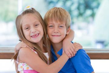 Cute little children friends