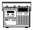 vector cassette recorder on white background