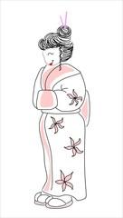 dibujo de una geisha