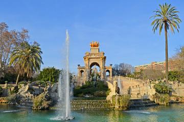 Fuentes y jardines del parque de la Ciutadella. Barcelona