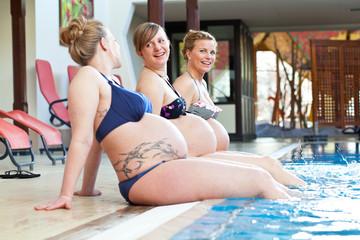 schwangere Frauen entspannen