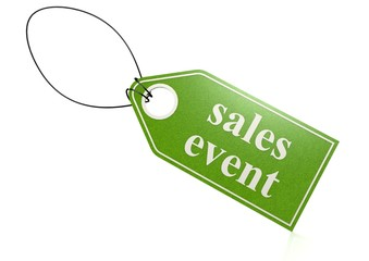 Sales event tag