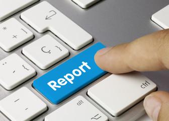 Report keyboard key finger blue