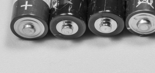 Batterien mit Textfreiraum