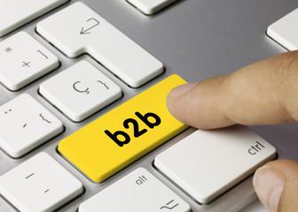 b2b keyboard key finger