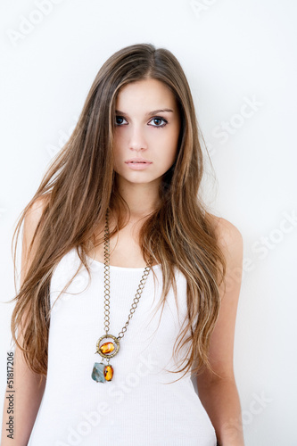 gorgeous young female in studio