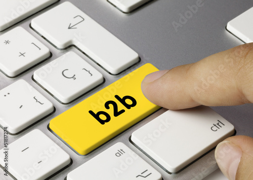 b2b keyboard key finger