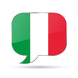 Italy speech bubble