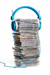 Kopfhörer und  CD,s