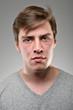 Caucasian Man Blank Expression Portrtait