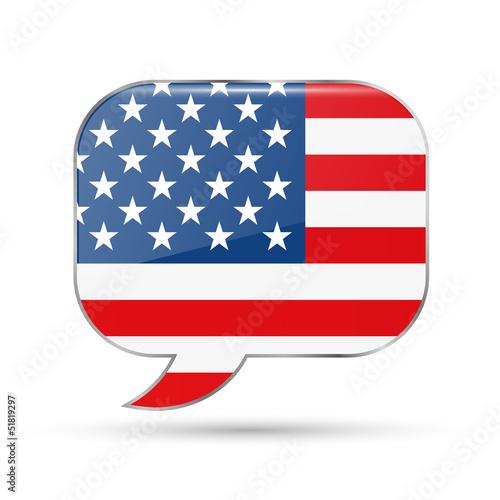 America speech bubble