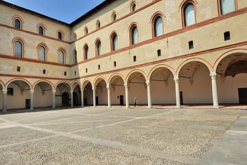 Milano Castello Sforzesco - Cortile della Rocchetta