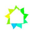 Nachhaltiges Wohnen Symbol 3D