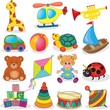 Baby's toys set. Vector illustration