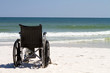 Wheelchair At Beach