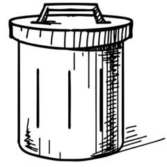 Outdoor trash bin icon