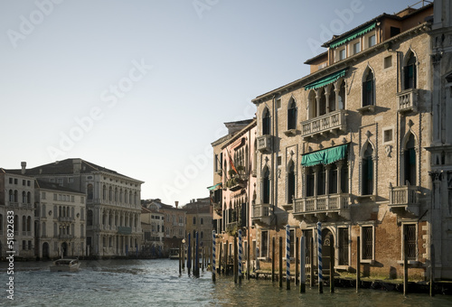 Buildings along Grand Canal in Venice